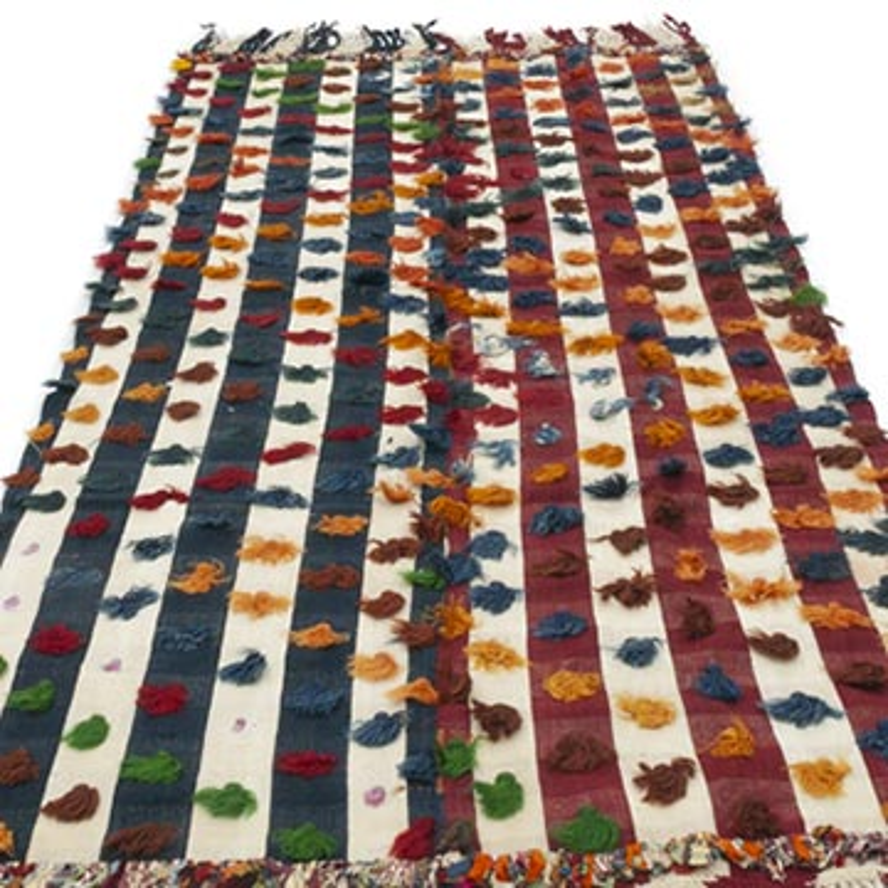 Multicolor Alfombra Vintage Anatolian Kilim - K0047837