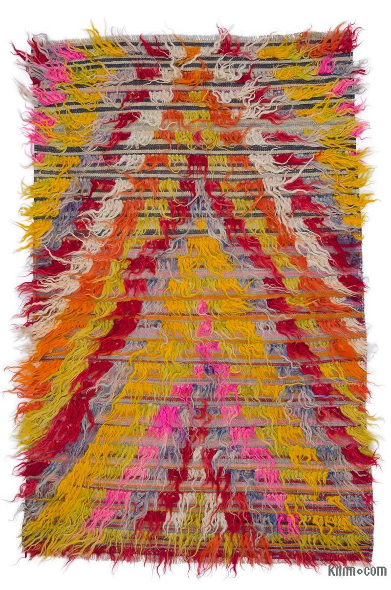 Çok Renkli Vintage Anadolu Tülü - K0047838