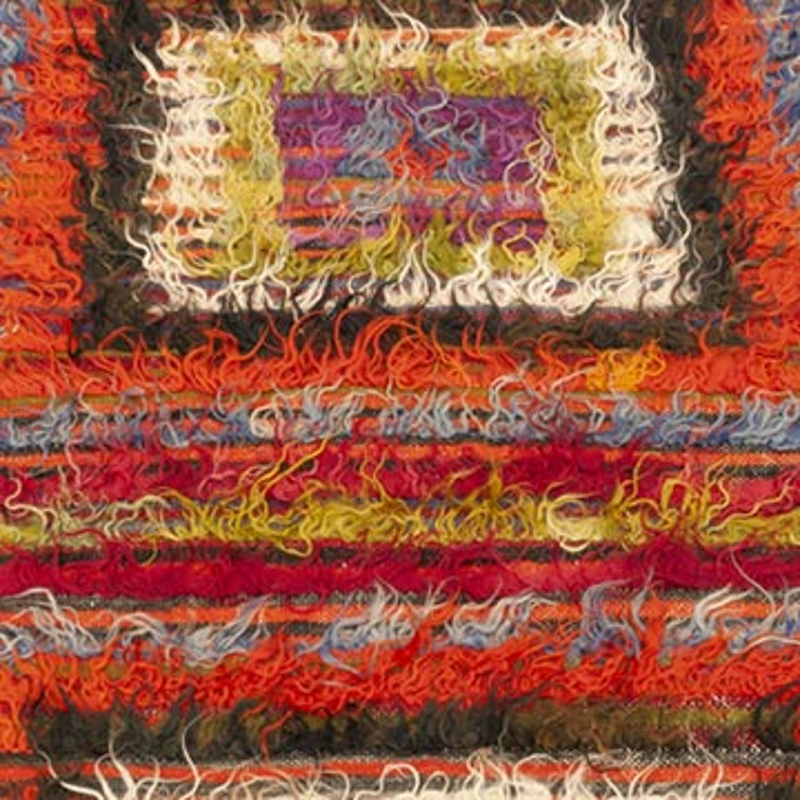 Çok Renkli Vintage Anadolu Tülü - K0047840