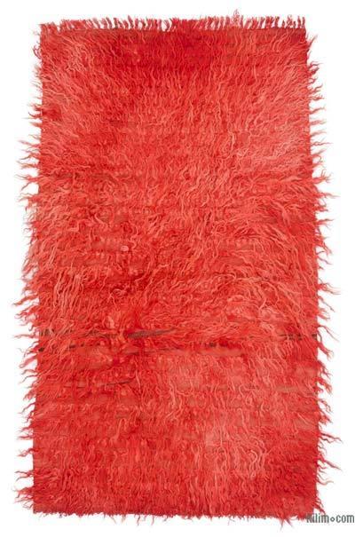 Kırmızı Vintage Anadolu Tülü