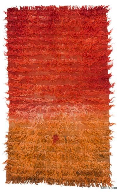 Rojo Alfombra Vintage de Anatolia Tulu