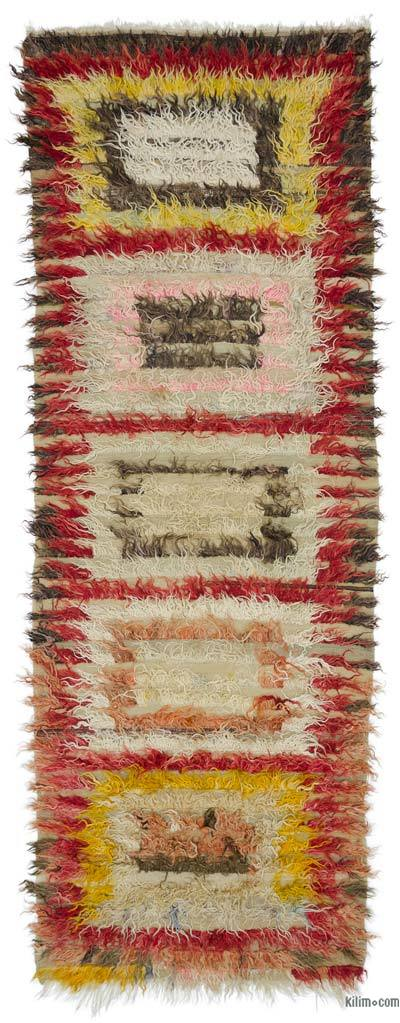 "Vintage Anatolian Tulu Runner - 3'7"" x 9'11"" (43 in. x 119 in.)"