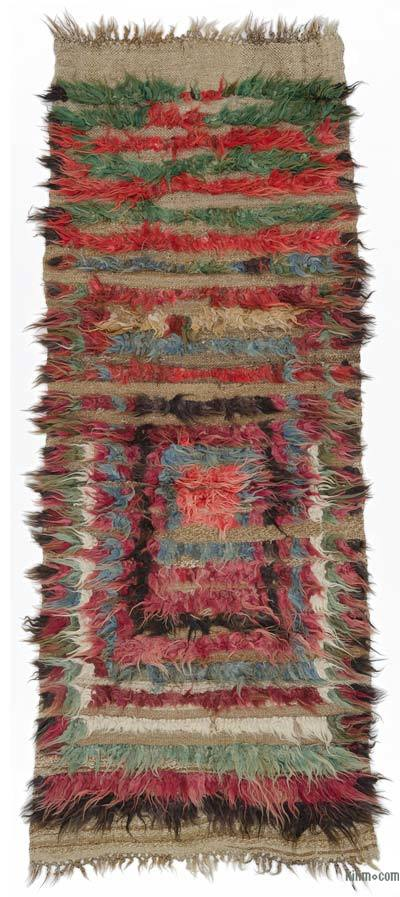 "Vintage Anatolian Tulu Runner - 3' 5"" x 8'  (41 in. x 96 in.)"