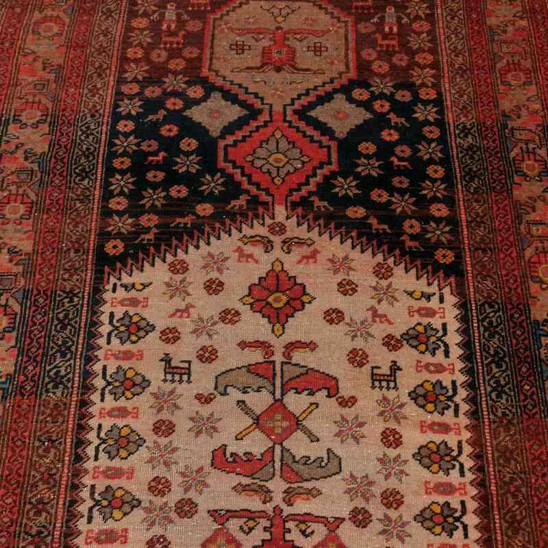 Multicolor Antique Anatolian Runner Rug - 4'  x 25' 7# (48 in. x 307 in.) - K0047869