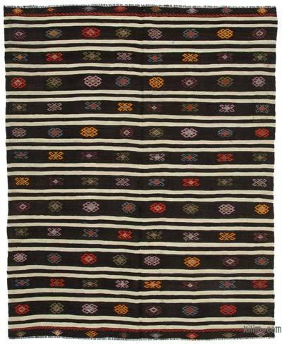 "Vintage Anatolian Kilim Rug - 6'11"" x 8'6"" (83 in. x 102 in.)"