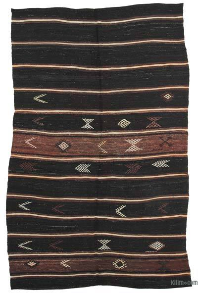 "Vintage Anatolian Kilim Rug - 6' 2"" x 10' 1"" (74 in. x 121 in.)"