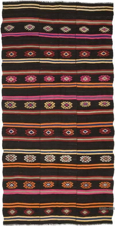 "Vintage Anatolian Kilim Rug - 6' 3"" x 12' 5"" (75 in. x 149 in.)"