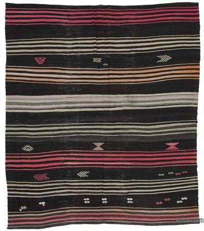 "Vintage Anatolian Kilim Rug - 6' 9"" x 7' 10"" (81 in. x 94 in.)"