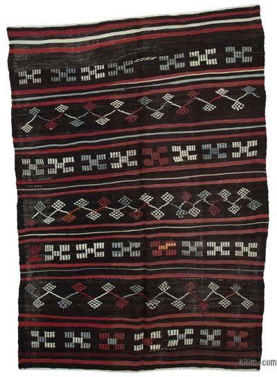 "Vintage Anatolian Kilim Rug - 6'7"" x 9'1"" (79 in. x 109 in.)"