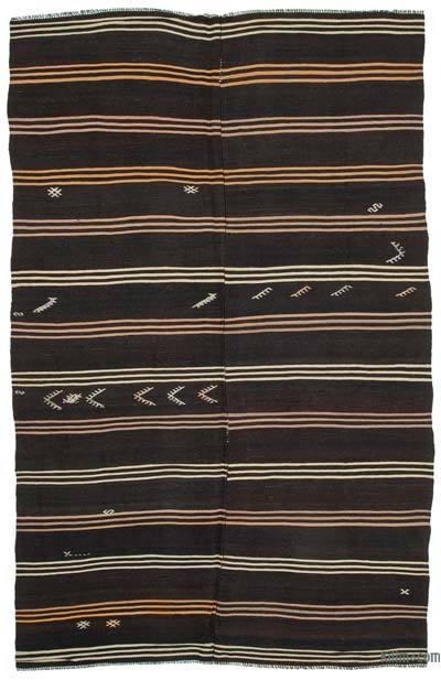 "Vintage Anatolian Kilim Rug - 6' 10"" x 11' 3"" (82 in. x 135 in.)"