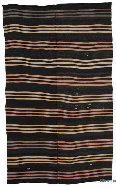 "Vintage Anatolian Kilim Rug - 7' 3"" x 11' 10"" (87 in. x 142 in.)"