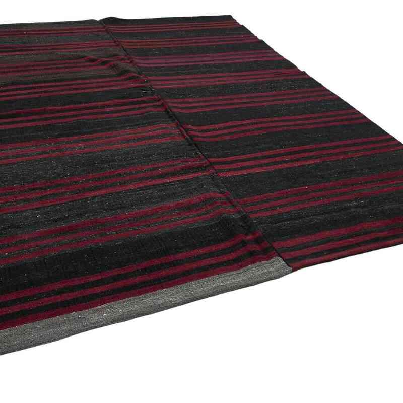 """Brown Vintage Anatolian Kilim Rug - 8' 7"""" x 10' 11"""" (103 in. x 131 in.) - K0047905"""