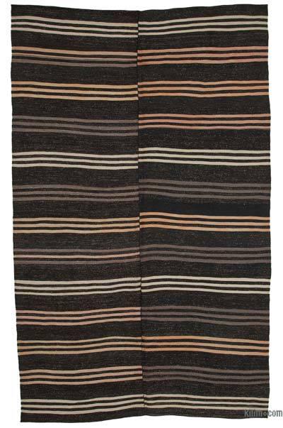 Kahverengi Vintage Anadolu Kilim - 212 cm x 353 cm