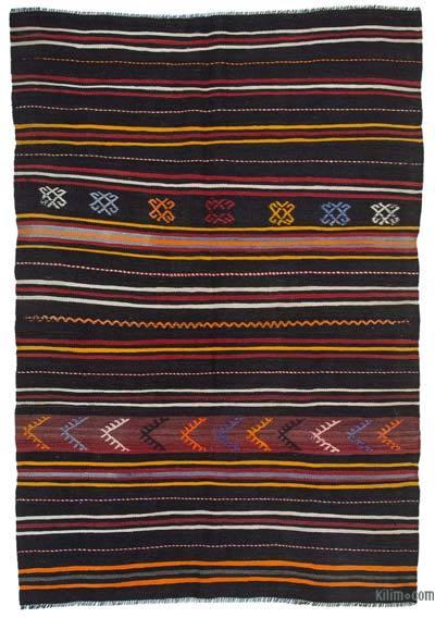 "Vintage Anatolian Kilim Rug - 5' 6"" x 7' 11"" (66 in. x 95 in.)"