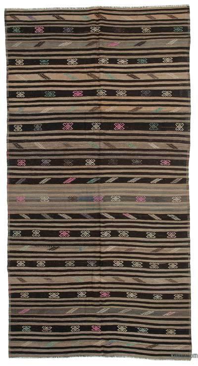 "Vintage Anatolian Kilim Rug - 5' 8"" x 7' 9"" (68 in. x 93 in.)"
