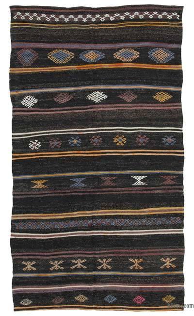 "Vintage Anatolian Kilim Rug - 5' 10"" x 10' 3"" (70 in. x 123 in.)"