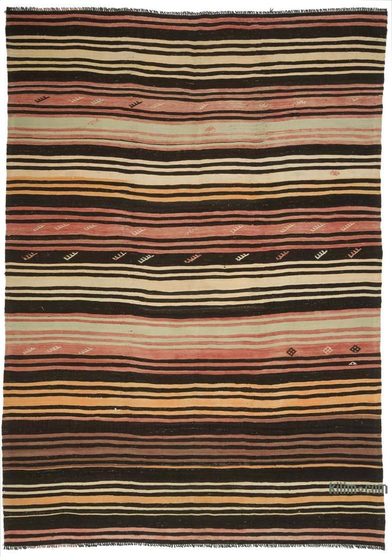 Çok Renkli Vintage Anadolu Kilim - 214 cm x 305 cm - K0047932