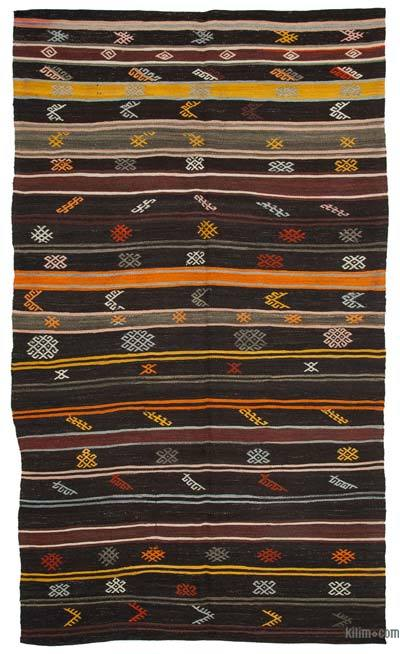 "Vintage Anatolian Kilim Rug - 7'  x 12' 4"" (84 in. x 148 in.)"