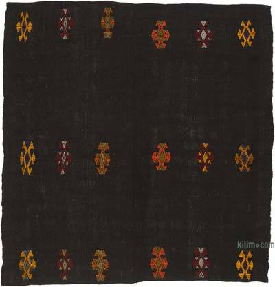 "Vintage Anatolian Kilim Rug - 6' 11"" x 7' 7"" (83 in. x 91 in.)"