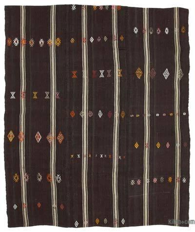 "Vintage Anatolian Kilim Rug - 7'6"" x 8'10"" (90 in. x 106 in.)"