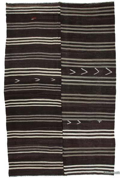 Kahverengi Vintage Anadolu Kilim - 240 cm x 380 cm