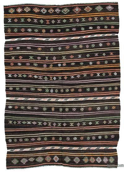 "Vintage Anatolian Kilim Rug - 7'2"" x 10'6"" (86 in. x 126 in.)"