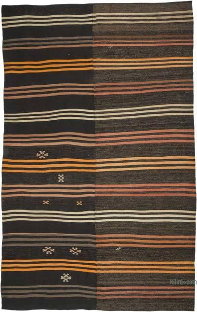 "Vintage Anatolian Kilim Rug - 7' 9"" x 12' 11"" (93 in. x 155 in.)"