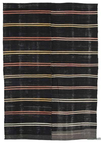 "Vintage Anatolian Kilim Rug - 6' 8"" x 9' 6"" (80 in. x 114 in.)"