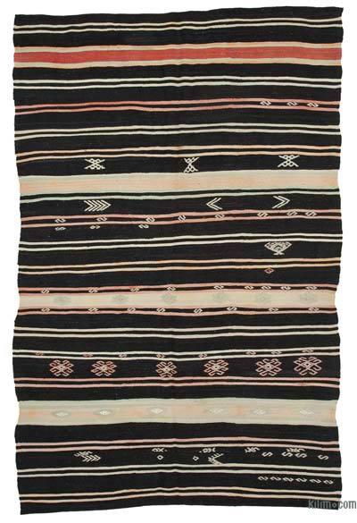 "Vintage Anatolian Kilim Rug - 7' x 10'7"" (84 in. x 127 in.)"