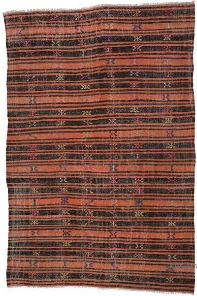"Vintage Anatolian Kilim Rug - 7' 1"" x 11'  (85 in. x 132 in.)"