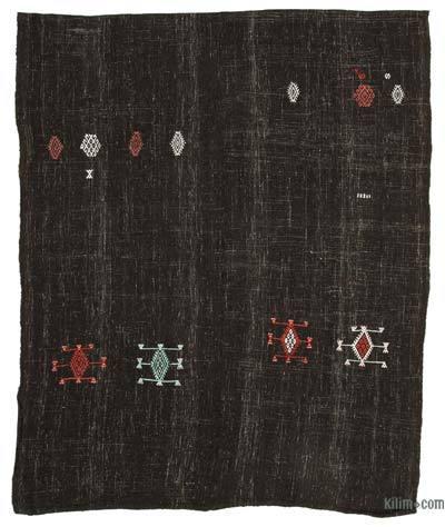 "Vintage Anatolian Kilim Rug - 7' 2"" x 8' 10"" (86 in. x 106 in.)"