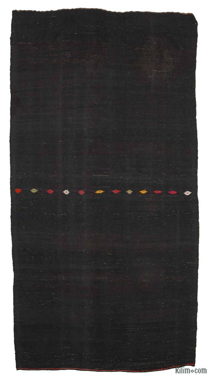 Kahverengi Vintage Anadolu Kilim - 195 cm x 382 cm - K0048011
