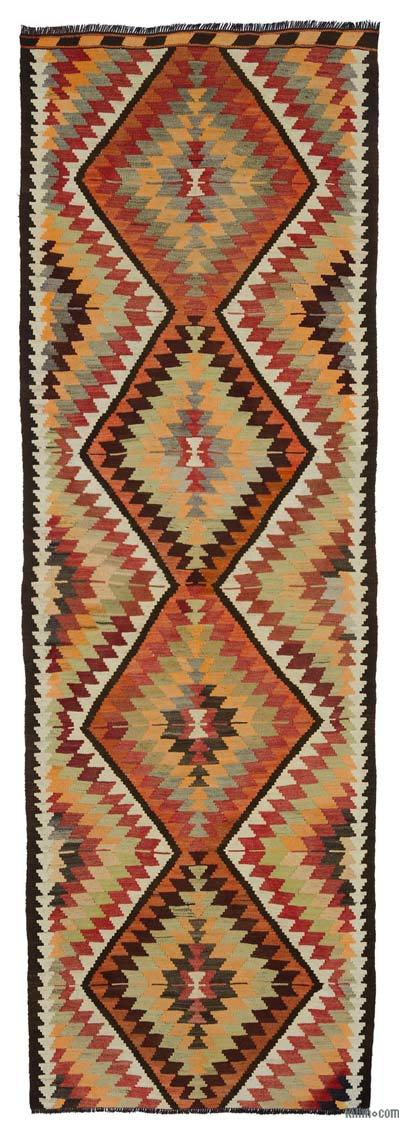 "Multicolor Vintage Mut Kilim Runner - 3' 7"" x 10' 7"" (43 in. x 127 in.)"