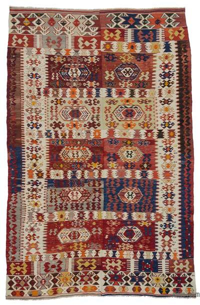 "Antique Aydin Kilim Rug - 5' 8"" x 8' 10"" (68 in. x 106 in.)"