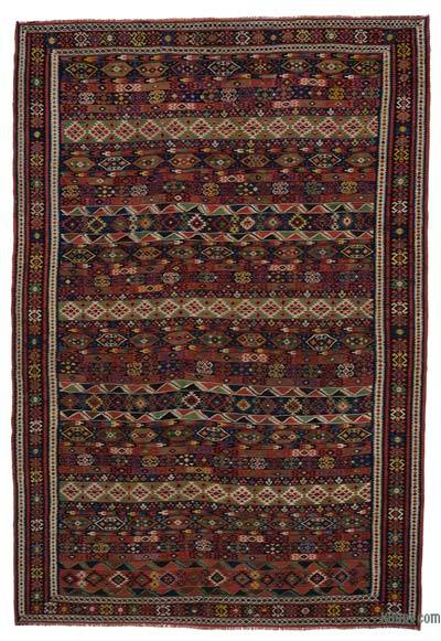 "Red Antique Shirvan Kilim Rug - 6' 5"" x 9' 4"" (77 in. x 112 in.)"