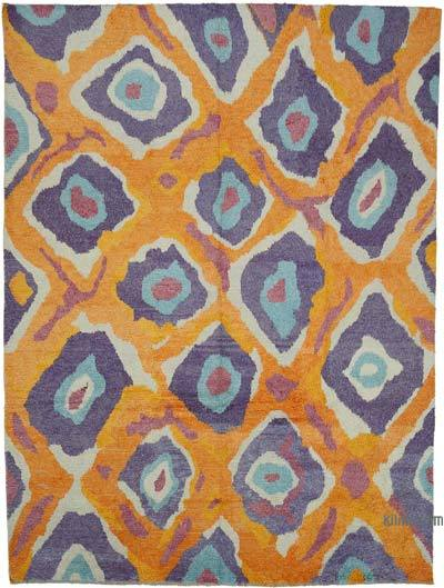 "New Turkish Tulu Area Rug - 9'1"" x 12' (109 in. x 144 in.)"