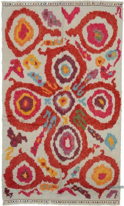 "New Turkish Tulu Area Rug - 4' 10"" x 7' 11"" (58 in. x 95 in.)"