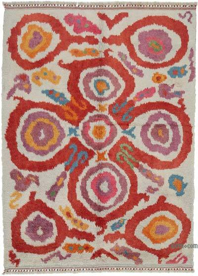 "Multicolor New Turkish Tulu Area Rug - 6' 8"" x 9' 2"" (80 in. x 110 in.)"