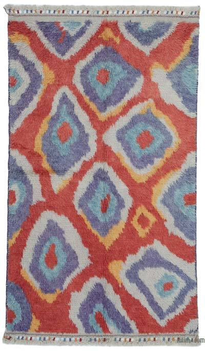 "New Turkish Tulu Area Rug - 3' 8"" x 6' 5"" (44 in. x 77 in.)"