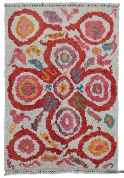 "New Turkish Tulu Area Rug - 4' 8"" x 6' 11"" (56 in. x 83 in.)"