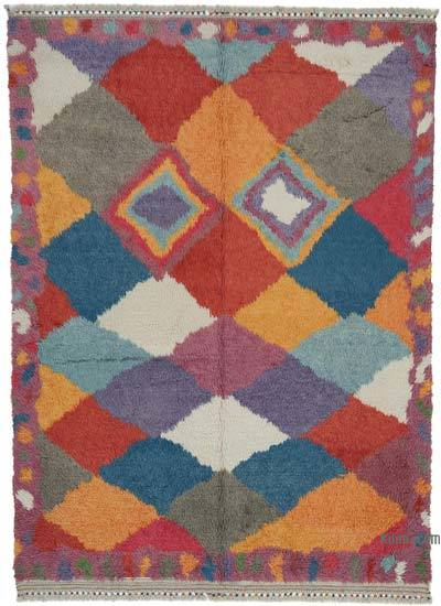 "New Turkish Tulu Area Rug - 6' 9"" x 9' 4"" (81 in. x 112 in.)"
