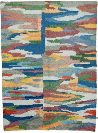 "Multicolor New Turkish Tulu Area Rug - 8' 8"" x 11' 7"" (104 in. x 139 in.)"