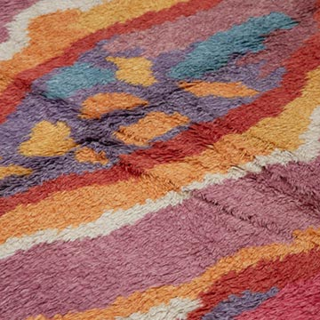 Multicolor Moroccan Style Hand-Knotted Tulu Rug - 7'  x 10'  (84 in. x 120 in.) - K0048075