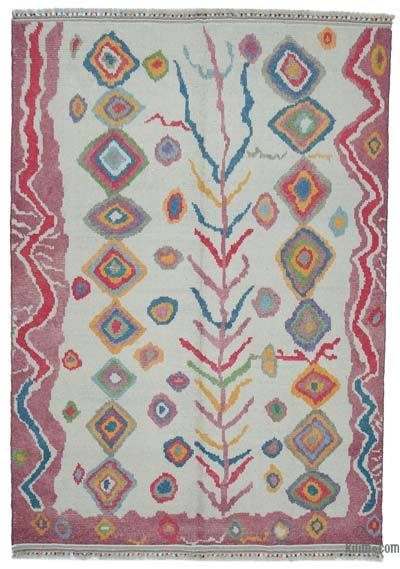 "New Turkish Tulu Area Rug - 7' 7"" x 10' 11"" (91 in. x 131 in.)"