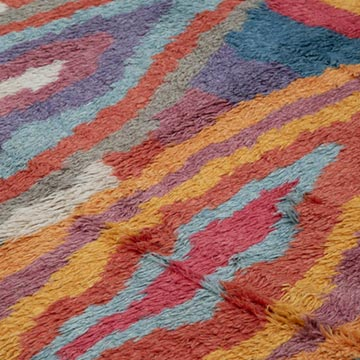 Multicolor Moroccan Style Hand-Knotted Tulu Rug - 8'  x 10'  (96 in. x 120 in.) - K0048078