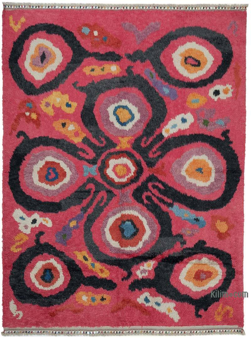 """Multicolor Moroccan Style Hand-Knotted Tulu Rug - 7' 11"""" x 10' 8"""" (95 in. x 128 in.) - K0048082"""