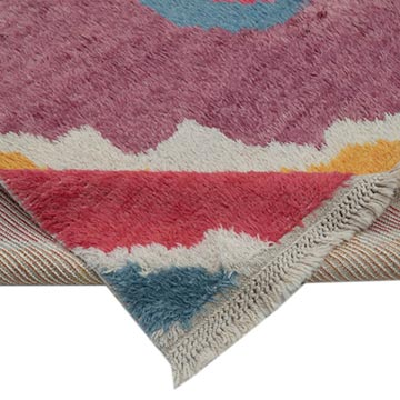 """Multicolor Moroccan Style Hand-Knotted Tulu Rug - 9' 4"""" x 13'  (112 in. x 156 in.) - K0048085"""