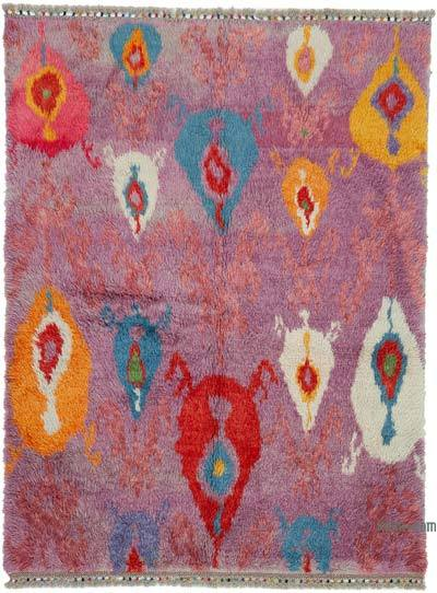 New Turkish Tulu Area Rug - 6'  x 8'  (72 in. x 96 in.)