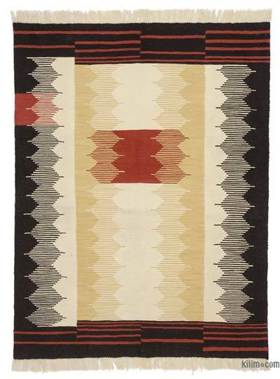 "New Turkish Kilim Rug  - 5'2"" x 6'9"" (62 in. x 81 in.)"