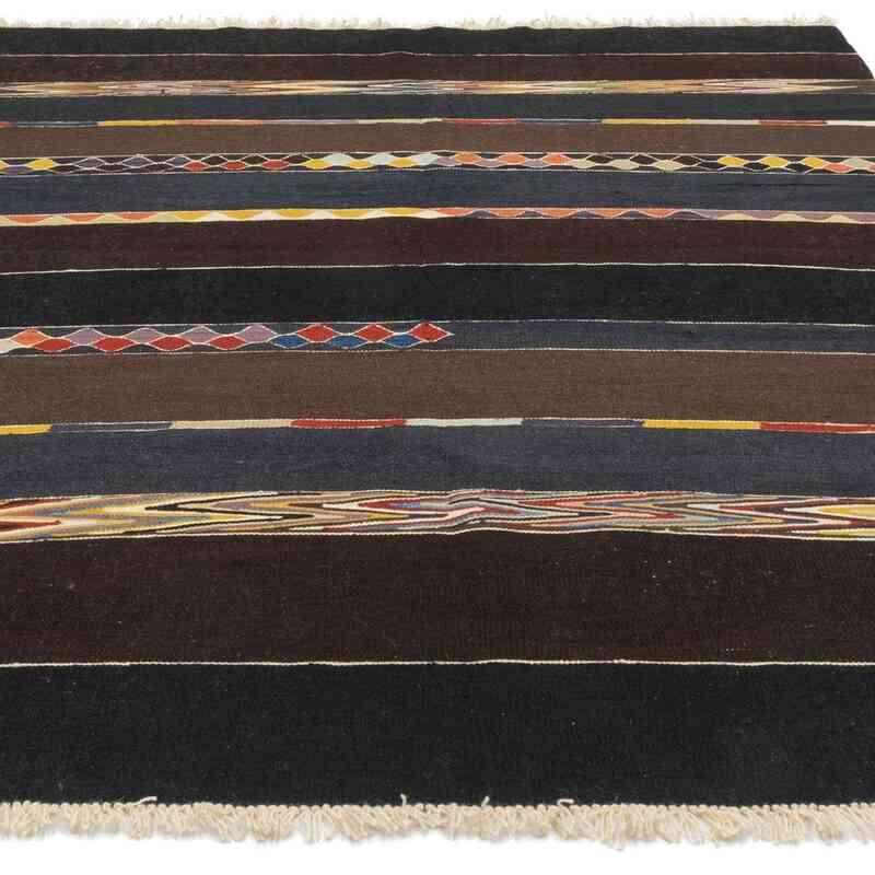 Marrón Nueva Alfombra Turca Kilim - 184 cm x 250 cm - K0048236